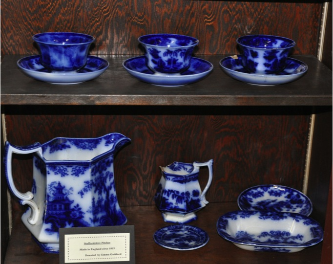 Flow Blue Tea Set from Emma Goddard China Collection