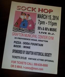 Sock Hop Flier